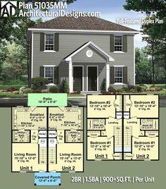 4-plex #3 with good floor plan *** | Apartment/House Plan Ideas ...