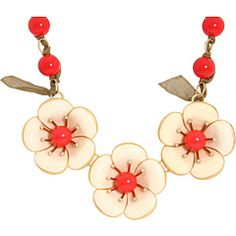 Marc by Marc Jacobs D4 Rosa Rugosa Three Flower Necklace