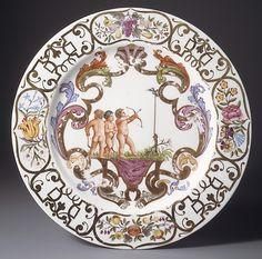 1740 German (Meissen) Plate at the Metropolitan Museum of Art, New York
