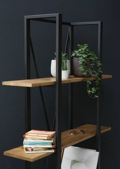 KONK  Industrial/Moern Oak/Steel  BOOKCASE Bespoke sizes