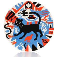 Mark Hearld Folk Art Platter for the Tate's British Folk Art show