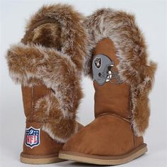#Fanatics  Cuce Shoes Oakland Raiders Ladies Fanatic Boots - Tan