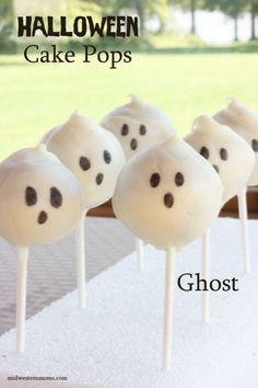 Halloween Ghosts Cake Pops