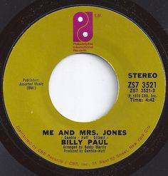 #1 on Billboard / Me And Mrs. Jones / Billy Paul