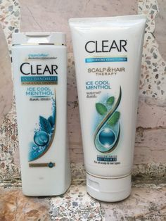 Clear ICE COOL scalp & hair with Nutrium 10 blend Unisex Shampoo & Conditioner #CLEAR