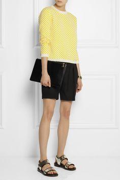 Marni | Checked stretch-knit jacquard sweater