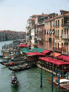 Venecia - Gran Canal desde el Puente de Rialto