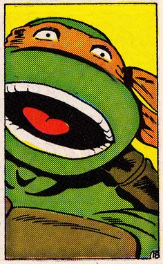 MIKEY in TMNT ADVENTURES #2 (Oct. 1988) -Michael Dooney (Pencils), Dave Garcia (Inks), Barry Grossman (Colors)
