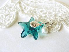 Crystal Starfish Necklace.