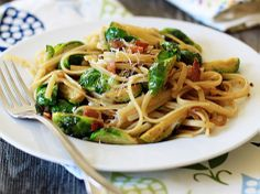Linguine with Brussels Sprouts, Bacon, and Caramelized Shallots | Tasty Kitchen: A Happy Recipe Community!