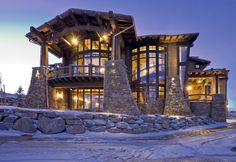 colorado ski homes interiors | Ski Magazine Dream Home | Midway Construction
