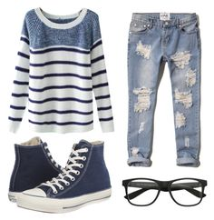 """Untitled #218"" by abbey-mccracken on Polyvore featuring Chicnova Fashion, Abercrombie & Fitch and Converse"