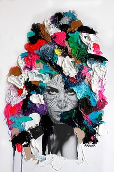 Saatchi Online Artist: aga baranska; Assemblage / Collage, 2013, Mixed Media Flush I really want to try this.