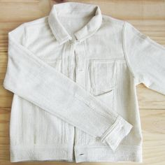 Jackets with Little Pockets Natural Dyed Cotton Natural Color -www.tanbagshop.com