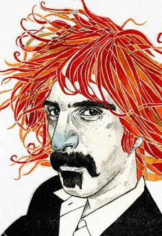 Frank Zappa — Andy Christofi Frank Zappa, Rock N Roll, Frank Vincent, Rock And Roll Fantasy, Funny Caricatures, Punk, Music Photo, Art Graphique, Fantastic Art