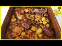 """FRANGO ASSADO NO FORNO - 🍎 """"Receitas do Paraíso"""" - YouTube Chicken Wings, Youtube, Food, Oven Barbecue Chicken, Onions, Cloves Of Garlic, Main Courses, Belle, Cuisine"""