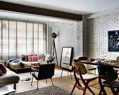 NY loft feel in an apartment in Coruna, Spain. Designed by Joaquin Barral & Arianna Vazque.