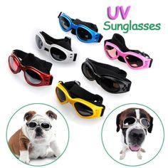 UV Sunglasses Pet Dog Sun Glasses Fashion Glasses Goggles Eye Wear Protection | eBay