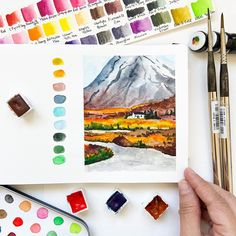 """Ashwini 🇦🇹 🇺🇸 🇮🇳 on Instagram: """"Here is a painting of Scottish highlands, it's my current obsession! On a completely different note, cherry blossoms are blooming…"""" Watercolor Landscape, Watercolor Art, Scottish Highlands, People Around The World, Art Day, The Creator, Bloom, Photo And Video, Cherry Blossoms"""