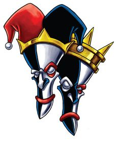 Laugh Now Cry Later Harlequin Jester Masks Tattoo Design