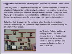 This is an example of many Reggio Emilia Curriculum Philosophies: Emergent Curriculum, Documentation, The Image of the Child as active, competent learners and researchers, The Role of the Teachers as facilitators, listeners, observers and collaborators in learning, Process vs. Product