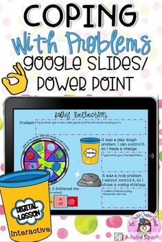 Digital Coping Skills for Rock and Play Dough Problems Interactive Lesson Coping Skills Activities, Counseling Activities, Therapy Activities, Play Therapy, Speech Therapy, Mindfulness For Kids, Mindfulness Activities, Elementary Counseling, School Counselor