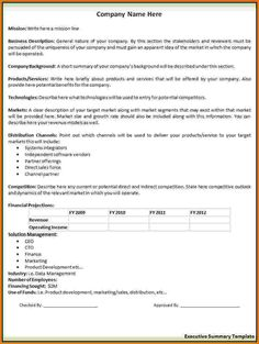 Business Summary Template 31 Executive Summary Templates Free Sample Example  Format, 2 Executive Summary Templates Free Word Templates, Sample Business  ...  Free Executive Summary Template