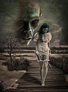 Dark art/ on board Dark art by Cynthia Ann