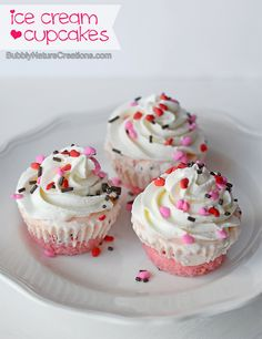 Ice Cream Cupcakes!  Kids would LOVE these