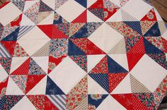 Stars of Valor Quilt Pattern | These are the fabrics we used to make our beautiful quilt top!