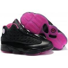 http://www.asneakers4u.com/ 414581 001 Air Jordan 13 Retro Women Black Pink A24027 Sale Price: $66.20