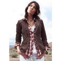 womens outfit corduroy blazer - Google Search                                                                                                                                                                                 More