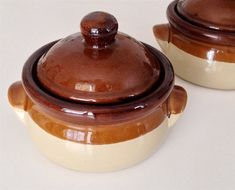 Onion Soup Bowl Small Lidded Crock Set of by GreenLeafStudiosEtsy, $32.00