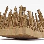 New Wooden Cityscapes Sculpted with a Bandsaw by James McNabb