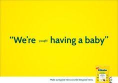 Make sure good news sound like good news. Advertising School: Miami Ad School Europe Creative Directors: Niklas Frings, Salvatore Russomanno Arthttp://adsoftheworld.com/media/print/ricola_baby