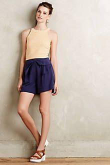 Bowtie High-Rise Shorts