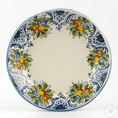 Italian Dinnerware < Montelupo ceramics: Ceramiche Ammannati - Frutta blu   Buy Italian pottery at Thatsarte.com