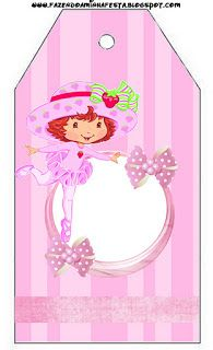 Strawberry Shortcake Ballerina - Full Kit with frames for invitations, labels for snacks, souvenirs and pictures!   Making Our Party
