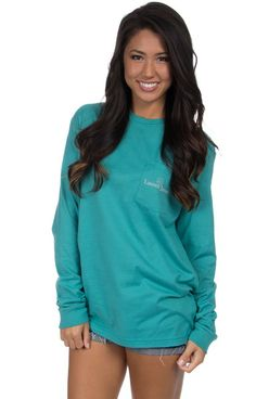 Seafoam - My Beau Knows - Long Sleeve Front