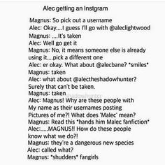 Malec finding out about Malec😂😂💜💜💜 Shadowhunters Malec, Shadowhunters The Mortal Instruments, Clace, Immortal Instruments, Nos4a2, Alec Lightwood, Jace Wayland, Magnus And Alec, Cassandra Clare Books