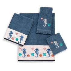 Avanti Seahorse Geo Towel Collection - BedBathandBeyond.com