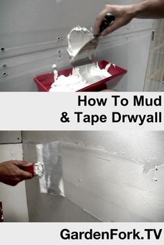 DIY Video of how to mud and tape drywall - sheetrock . Mudding and Taping take some practice, but if I can do it, you can do it. Here we tape and mud a wall we built during our renovation. Drywall Tape, Drywall Mud, Drywall Repair, Diy Videos, Drywall Finishing, How To Finish Drywall, How To Install Drywall, How To Hang Sheetrock, Gypse