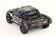 Black modded Ford F-150 Raptor truck