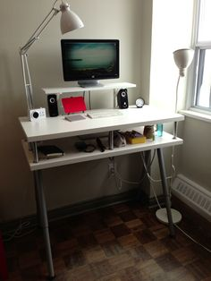 Ikea Standing Desk Hack For Home Office Desk Small Home Offices, Home Office Desks, Home Office Furniture, Ikea Standing Desk, Desk Hacks, Minimalist Desk, Ikea Desk, Stand Up Desk, Best Ikea