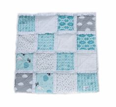 A perfect blend of bears, clouds & modern prints can be found in this cozy handmade Maisy Mae Sleepy Raggy quilt for your little misses or. Keepsake Quilting, Modern Prints, Little Miss, Baby Quilts, Sewing Projects, Cozy, Blanket, Bears, Handmade