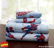 Spiderman sheets would go great with just a red or blue comforter.