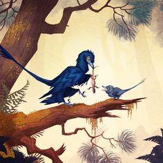 Microraptor zhaoianus, Johan Egerkrans on ArtStation at https://www.artstation.com/artwork/yRqo9