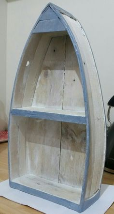 Shabby Chic Boat Shelf made from pallet wood.                                                                                                                                                                                 More
