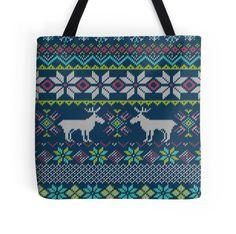 Reindeer Fabric Texture Christmas Background