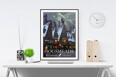 Hogsmeade - Harry Potter - Travel Postcard Style Art Print - (Available In Many Sizes)